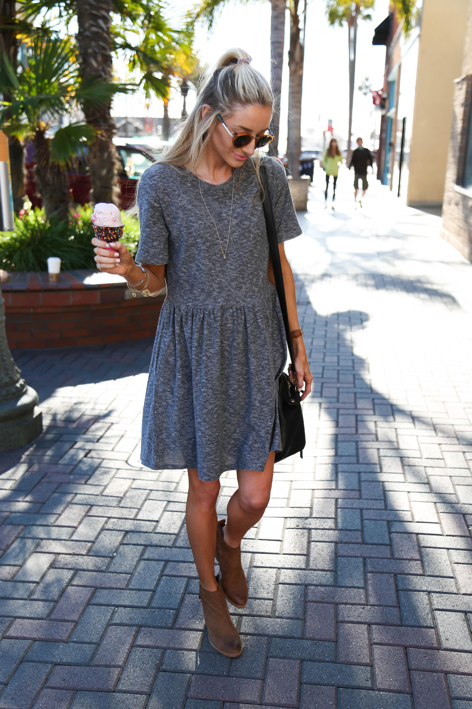 fancy gray sheath dress